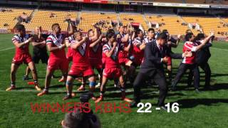 Kelston haka after winning the 2014 SAS College Rugby League title.