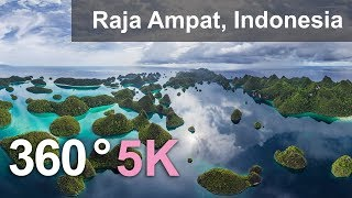 360°, Raja Ampat archipelago, Indonesia, 5K aerial video
