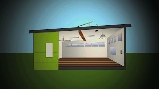 Temporary portable classrooms get sustainable makeover