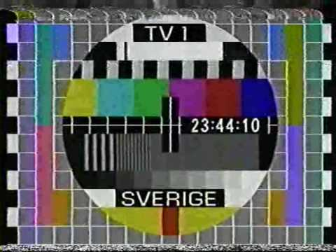 TV1 Klocka + Testbild 1986