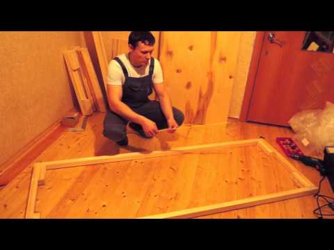 3 Собираем рамы. Как сделать диван Еврокнижка своими руками.