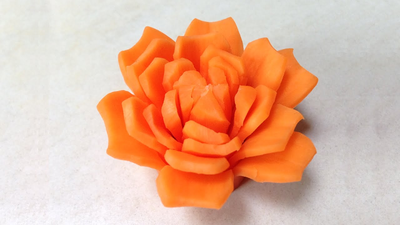 Simple Unique Style Rose From Carrot Beginners Lesson 82 By