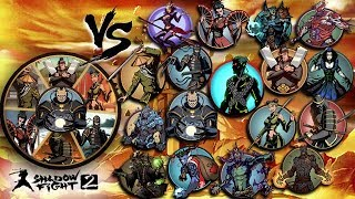 Shadow Fight 2 All Bosses Fusion Vs All Bosses