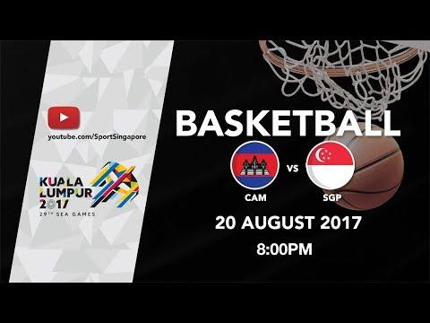 Basketball 🏀 Mens Cambodia 🇰🇭 vs 🇸🇬 Singapore | 29th SEA Games 2017