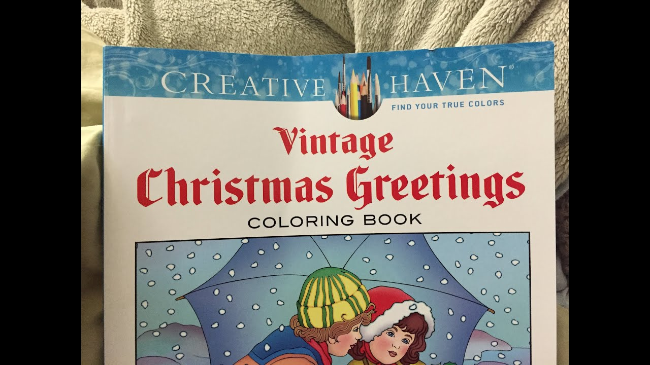 Vintage Christmas Greetings Adult Coloring Book Review And Flipthrough
