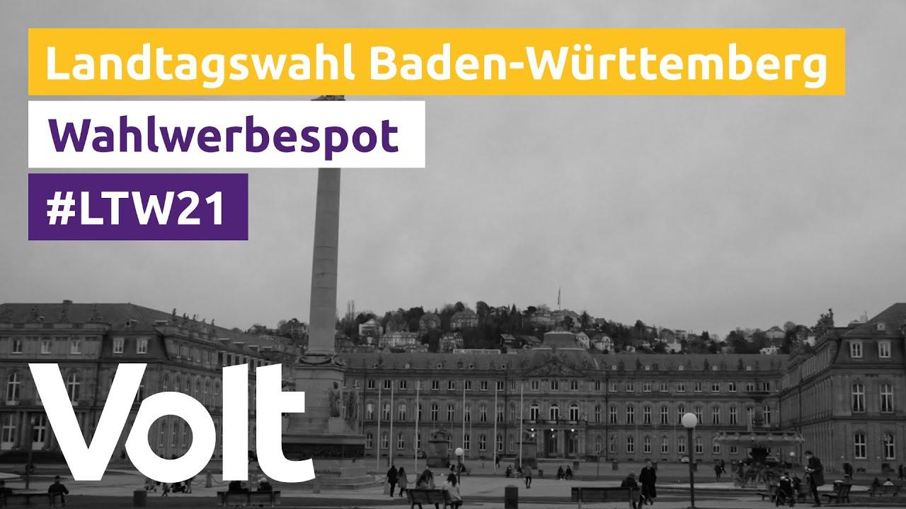 YouTube: Volt Baden-Württemberg Wahlspot zur Landtagswahl 2021: Zukunft #MadeInEurope