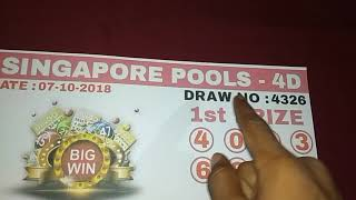 Singapore Pools 4D Winning Numbers 100% SURE WIN GURANTEE