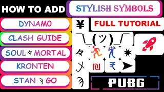 Download How To Add Symbols In Pubg Name Add Stylish Clan Crew Name