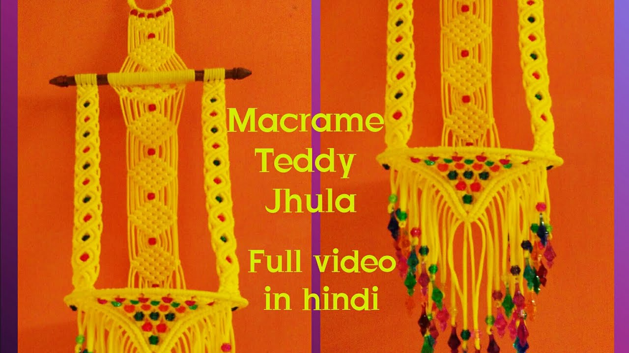 Macrame jhula making hanging jhula simple design part for How to make jhula at home