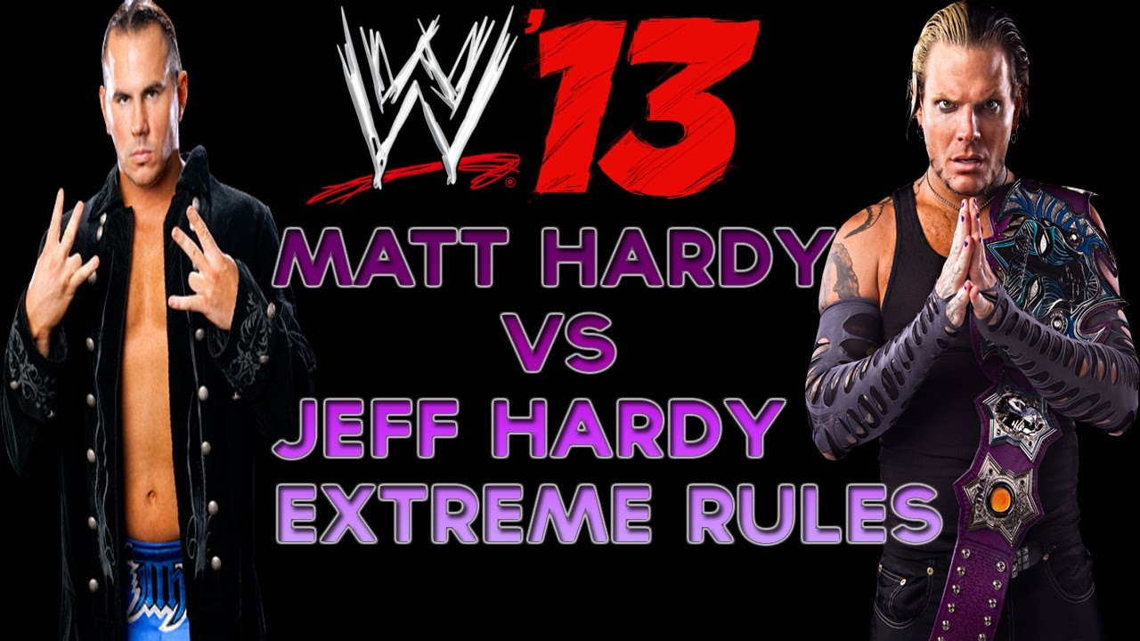 Uncategorized Jeff Hardy Kids wwe 13 jeff hardy vs matt extreme rules match youtube