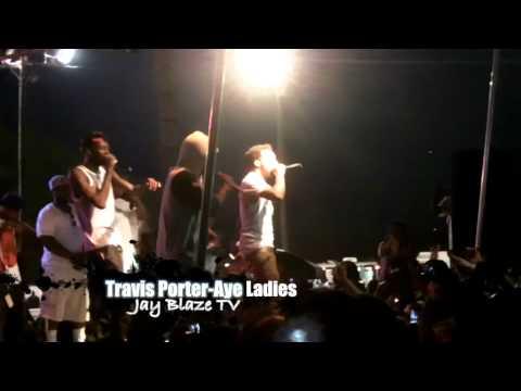 Travis Porter performing Aye Ladies at The Kinston Drag Strip