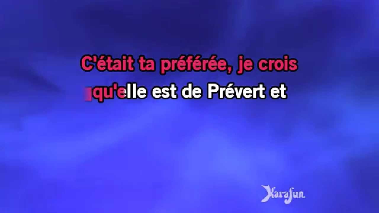 Karaoké La Chanson De Prévert