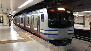 E217系クラY-22編成+クラY-122編成東京発車