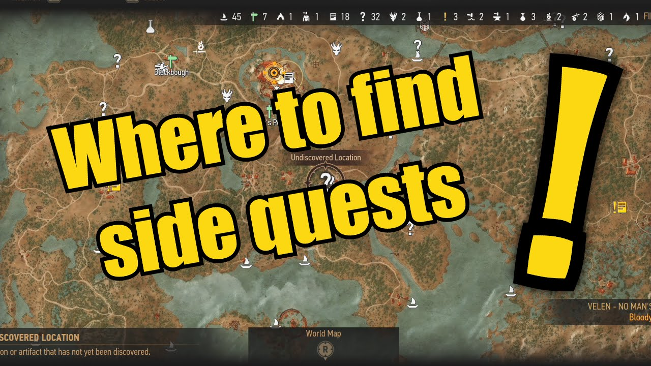 How To Find Side Quests On The Witcher 3 Youtube
