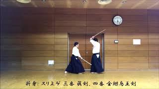 津軽伝書に基づく小野派一刀流の組太刀の再現④:折身(五点)の試し撮り。。。