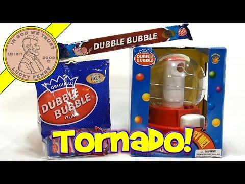 Dubble Bubble Tornado Gumball Candy Bank & 1928 Flavor Gum Comics