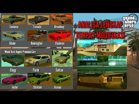 Analisa Lengkap Tempat Modifikasi Di GTA San Andreas Android