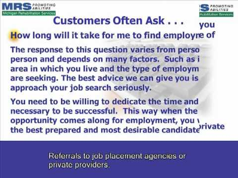 Section Six -Finding Employment - Section 6 of 10