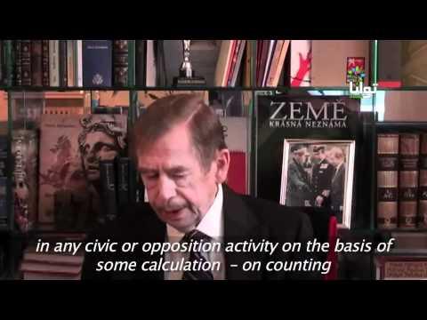 Tavaana Interview Vaclav Havel (English subtitles)