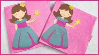 SÁCH VẢI THAY QUẦN ÁO BÚP BÊ CÔNG CHÚA DISNEY - Đồ chơi trẻ em Chim Xinh Quiet book dollhouse
