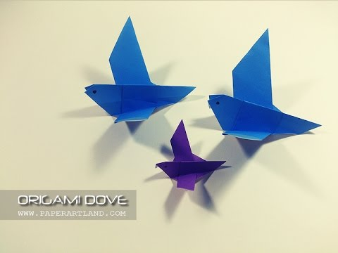 Easy Origami For Kids How To Make Simple Origami Dove Youtube
