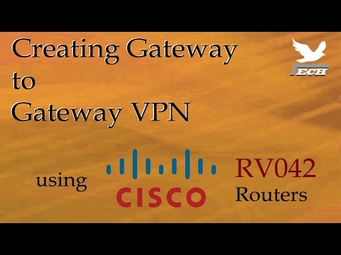 Gateway to Gateway VPN using Cisco RV042 Routers - YouTube