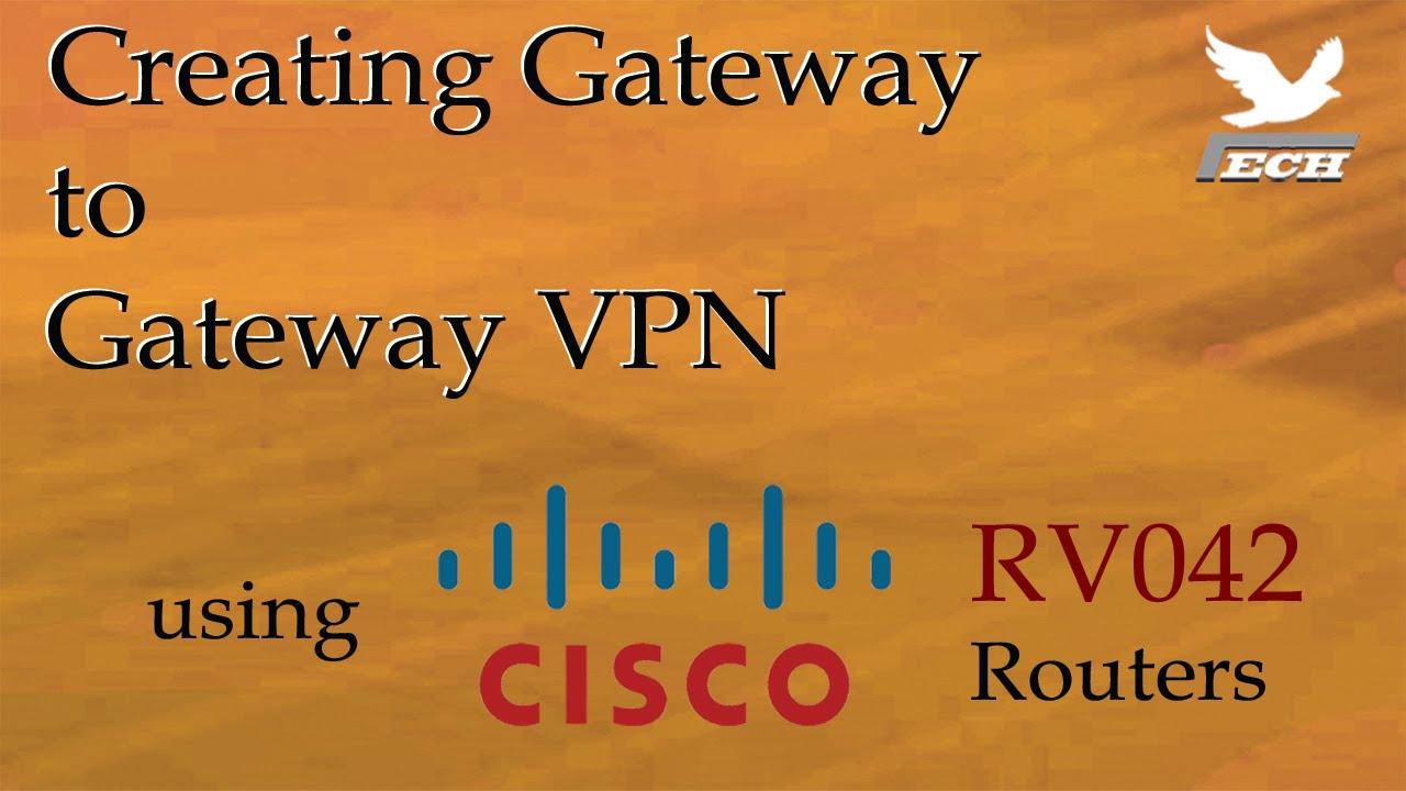 Gateway to Gateway VPN using Cisco RV042 Routers