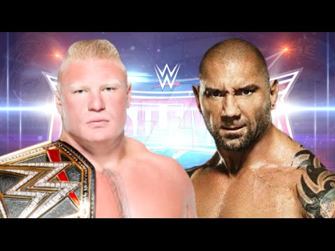 Brock Lesnar vs Batista Wrestlemania 32...