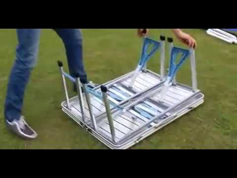 aluminum folding tables and chairs for outdoor dining portable portable car