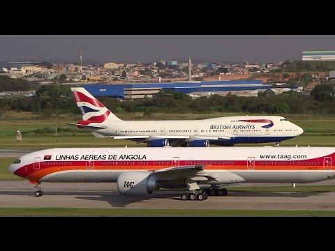 Traffic on runway 27 in GRU Airport (SBGR) Guarulhos - Sao Paulo