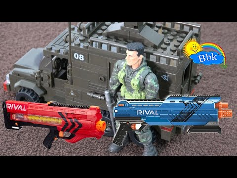 Домашние сражения игрушек ↑ Военные солдатики, нёрфы РИВАЛ, машины ↑ Обзор игрушек