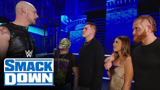 King Corbin interrupts as Rey Mysterio is giving thanks for his family: SmackDown, Nov. 27, 2020