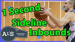1 Second Sideline Basketball Inbounds Plays