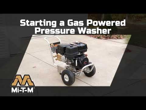 How To Start A Gas Pressure Washer Mi T M How To Use A