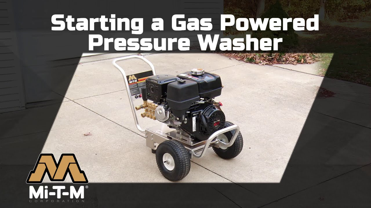 How to Start a Gas Pressure Washer | Mi-T-M How To Use A
