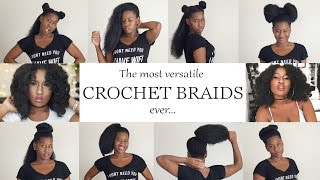 The most versatile natural-look Vixen crochet braids ever!| Back to School hair styles