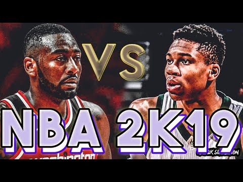 Washington Wizards vs Milwaukee Bucks - FULL GAME - NBA 2K19