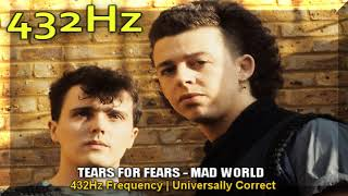 Tears For Fears - Mad World 432hz Frequency | 432 hz conversion (a=432hz)