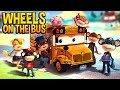 Wheels On The Bus Go Round And Round | Bus Cartoon for Kids | Nursery Rhymes for Children