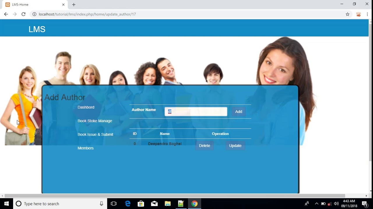 library management system project in php (codeigniter