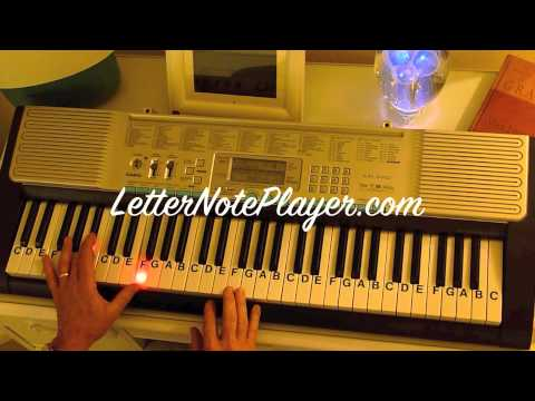 How to Play ~ Jingle Bell Rock ~  Key F - Brenda Lee ~ LetterNotePlayer ©