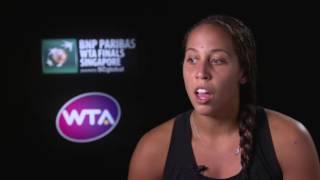 2016 WTA Finals Singapore Day 3: Madison Keys Post Match Interview