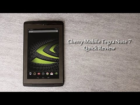 Cherry Mobile Tegra Note 7 Quick Review