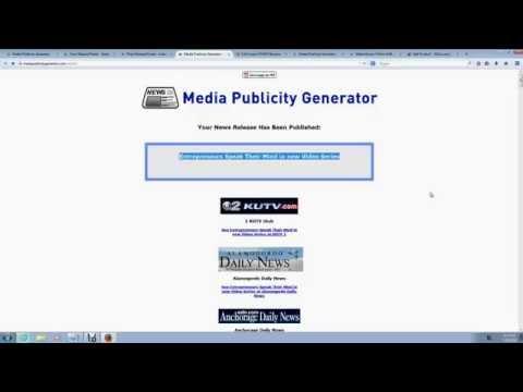 Media Publicity Generator Review ► Media Publicity Generator Demo