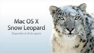 Como descargar Mac OS X Snow Leopard 10.6 gratis en Esp.