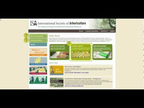 ISA Online Learning Center Tutorial