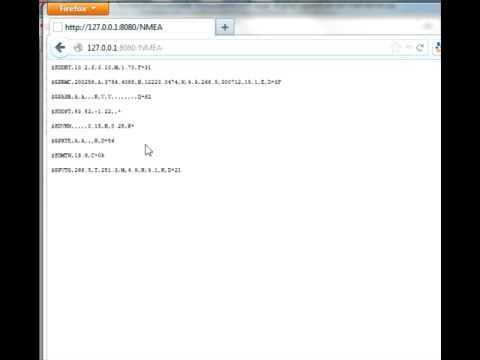 python NMEA web server