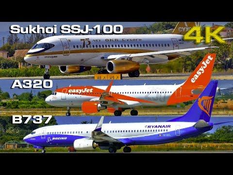 Sukhoi SSJ 100 vs  Boeing B737 vs  Airbus A320