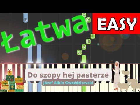 🎹 Do szopy hej pasterze - Piano Tutorial (łatwa wersja) 🎹