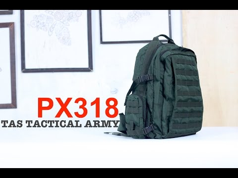 Ini Review Tas Tactical Ransel Army PX318 Refreshop